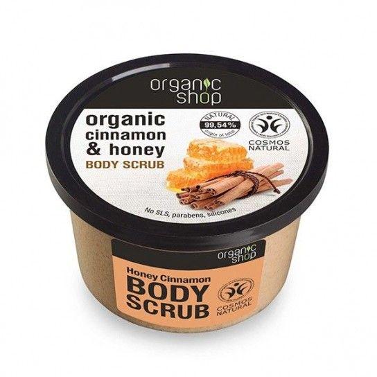 Exfoliante corporal canela y miel organic shop