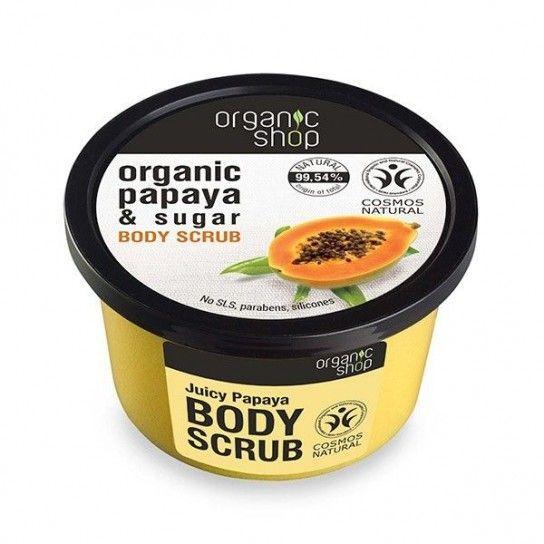 exfoliante corporal papaya y azucar organic shop