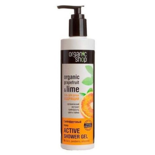 gel de ducha natural cítrico tonificante organic shop