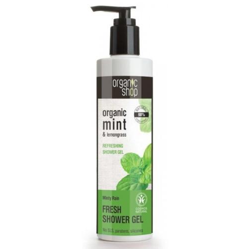 gel de ducha natural menta refrescante minty rain organic shop