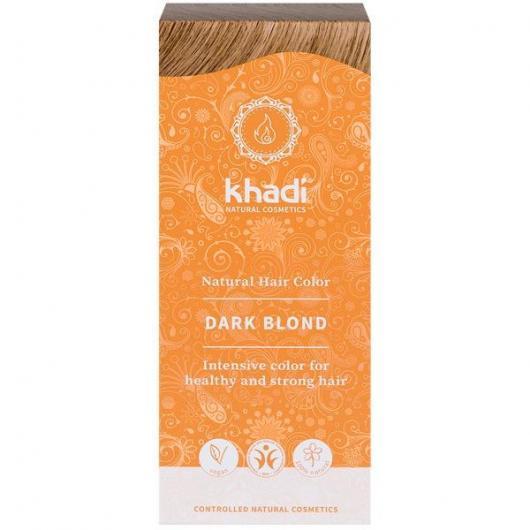 tinte natural ayurveda rubio oscuro ceniza khadi