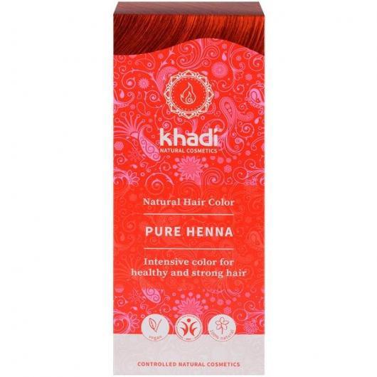 tinte natural rojo ayurveda henna khadi