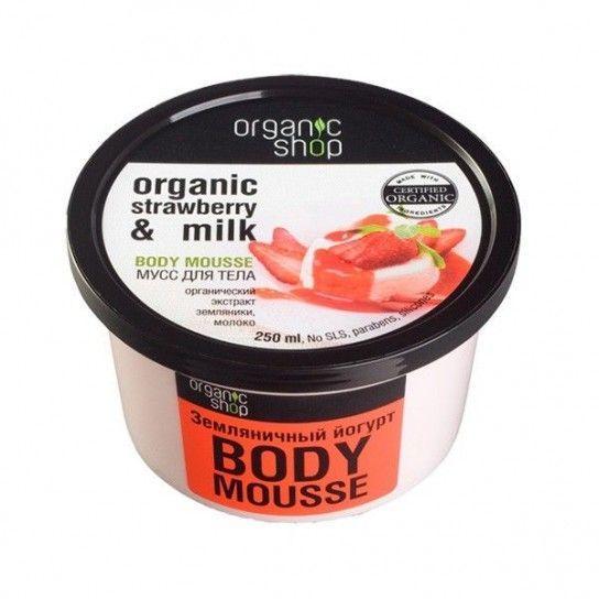 Hidratante corporal mousse de fresa Organic Shop