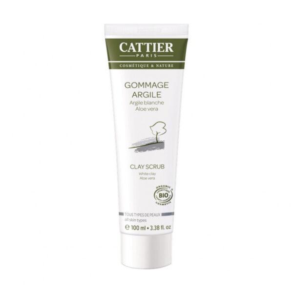 exfoliante facial bio arcilla blanca aloe vera cattier 100 ml
