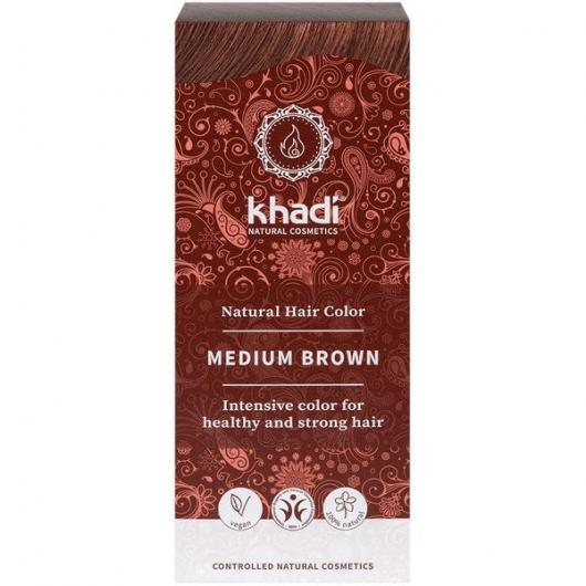 tinte natural ayurveda castaño medio khadi