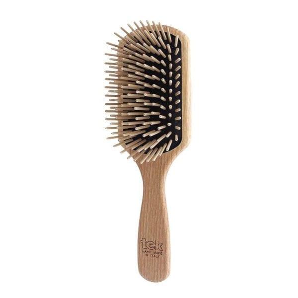 Cepillo para pelo pua larga madera rectangular grande TEK