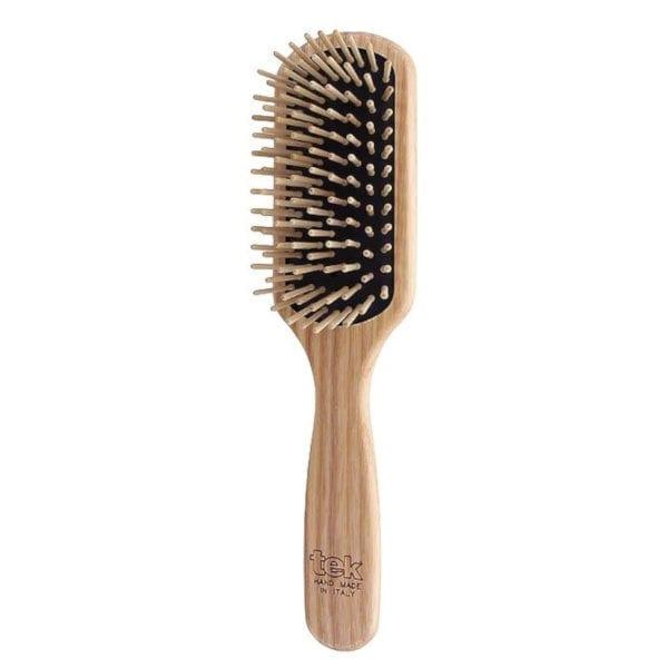 cepillo para el pelo de madera rectangular tek
