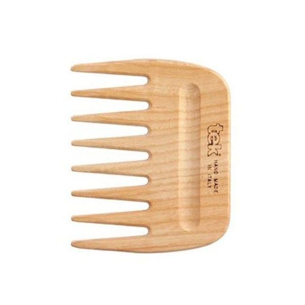 Peine de madera afro para pelo rizado TEK