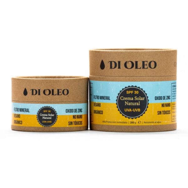 Crema protectora solar SPF 30 envase biodegradable Di Oleo