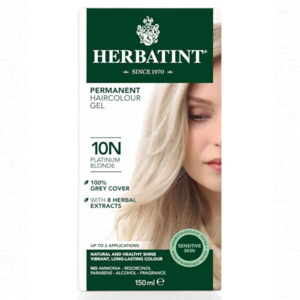 10N Rubio platino Tinte natural Herbatint