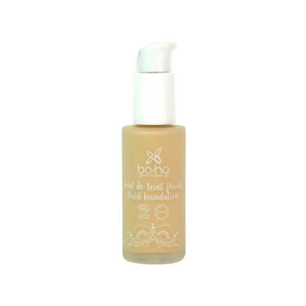 base de maquillaje fluida 02 ivoire vegano natural Boho