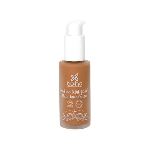 base de maquillaje fluida 07 caramel brun vegana natural Boho